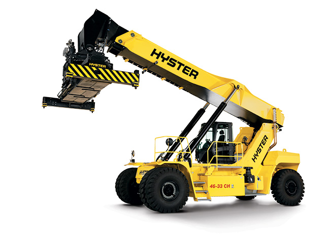 HYSTER Container Reachstacker RS46 - Stacker arm raised