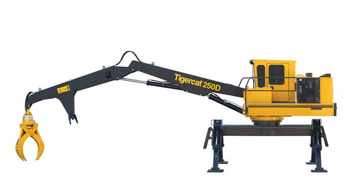 TIGERCAT 250D Log Loader - Right side view extended arm