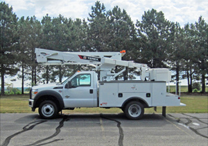 TEREX LT40 Telescopic Aerial Devices Hi-Ranger - Side profile