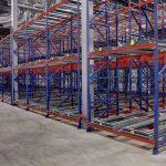 Racking Pushback Rack - View of empty racking
