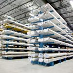 Racking Cantilever Rack with products in racking