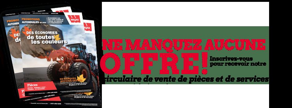 NE MANQUEZ AUCUNE OFFRE!