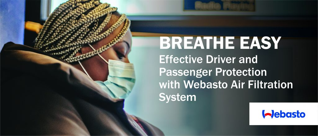 Webasto HEPA filtration system removes 99.995% of airborne infections and contaminants