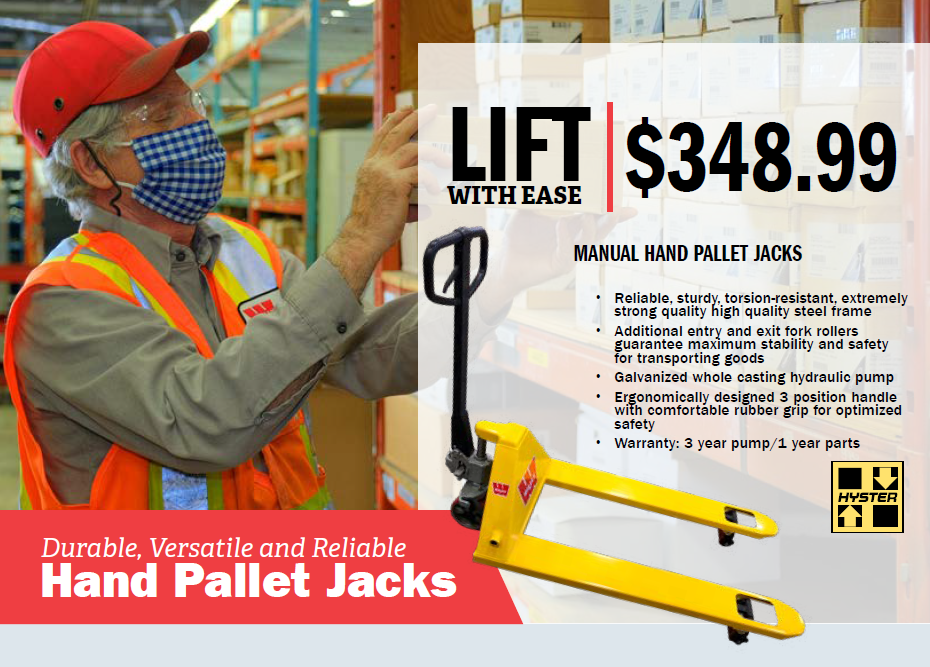 Manual Hand Pallet Jacks – $348.99